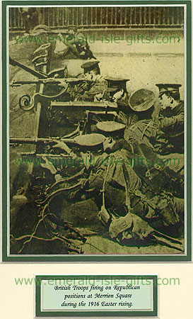 Easter Rising 1916 British Troops Take Cover