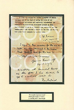 Easter Rising 1916 Ceasefire Agreement