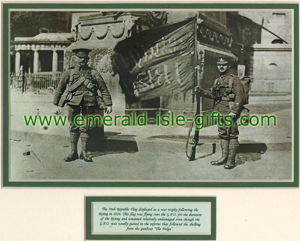 British Troops with Captured Free State Flag