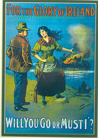 """""""Will You Go or Must I"""" WW1 Poster"""