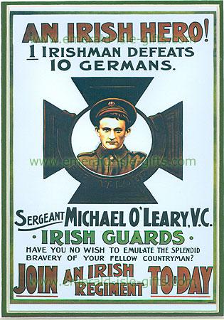 """""""""""""""An Irish Hero"""""""" WW1 poster"""""""
