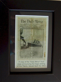 Daily Mirror - Sinking of the Titanic
