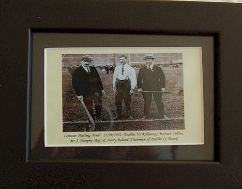 Michael Collins at GAA Hurling 1922 (Framed Miniature Picture)