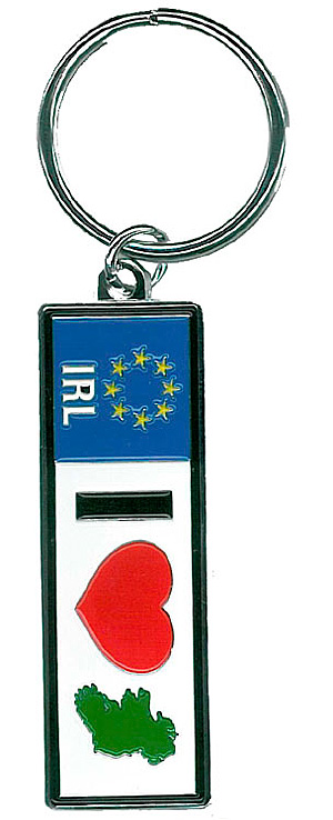 I Love Ireland Heart Keyring