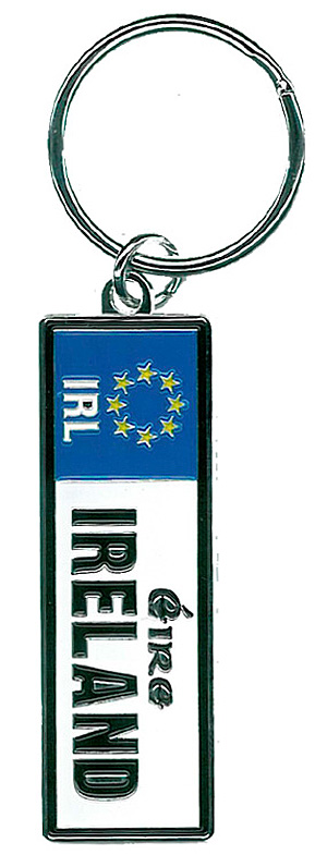 Ireland Eire License Plate Keyring