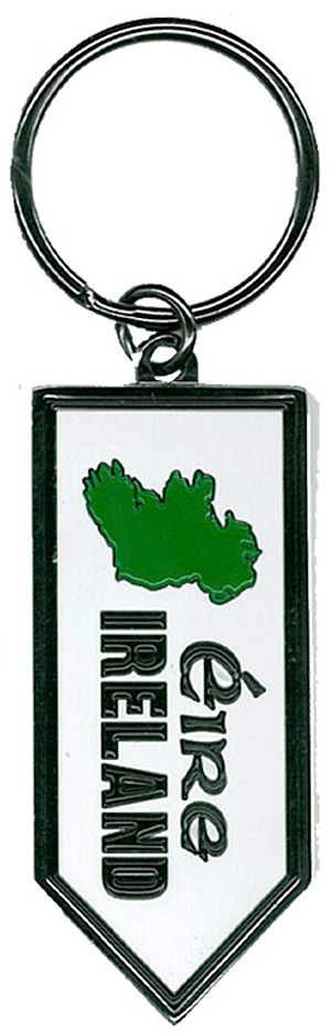 Eire Ireland Map metal keyring