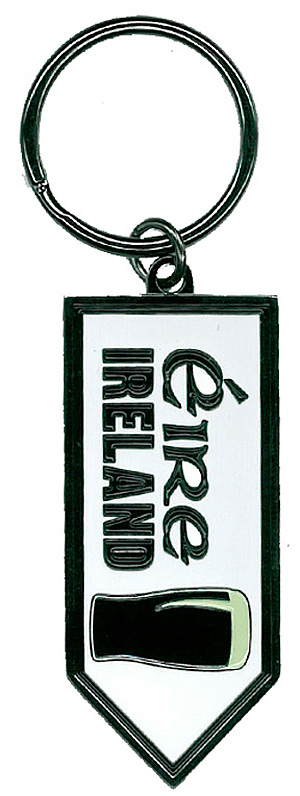 Ireland Pint of Beer Keyring Keychain