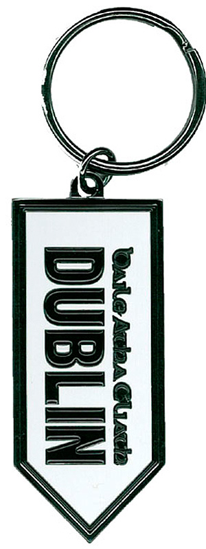 Dublin Road Sign metal keyring