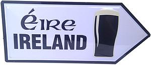 Irish Pint of Stout Road Sign (Miniature Metal Embossed sign)