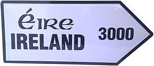 Ireland Map Metal Road Sign