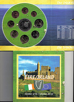 2003 Ireland Euro Set & EU Stamp Pack