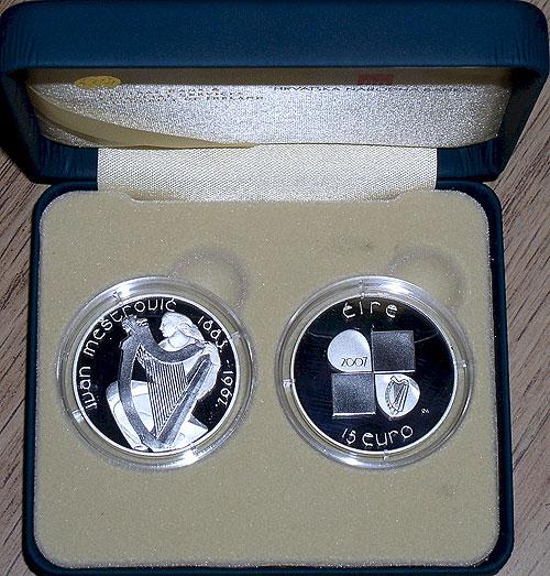 Ireland - Croatia 2007 15 Euro Silver Coins (Ivan Mestrovic)