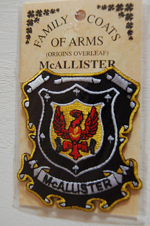 McAllister Embroidered Patch - Coat of Arms (Your surname)