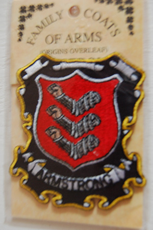 Armstrong Embroidered Patch - Coat of Arms (Great budget gift)