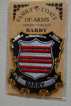 Embroidered Heraldic Patches Barry Embroidered Patch