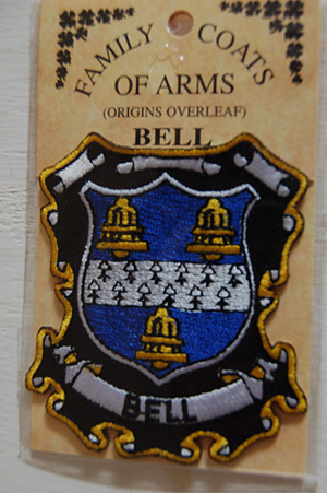 Embroidered Heraldic Patches Bell Embroidered Patch