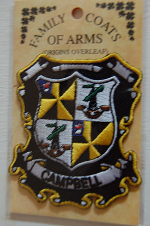 Campbell Embroidered Patch - Coat of Arms (Family Crest)