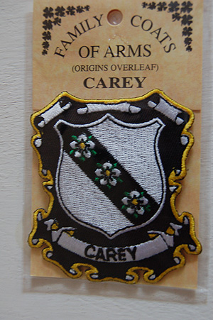 Carey Embroidered Patch - Coat of Arms (Family Crest)
