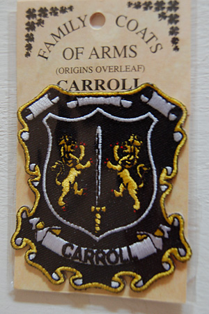 Carroll Embroidered Patch - Coat of Arms (Nice memento)