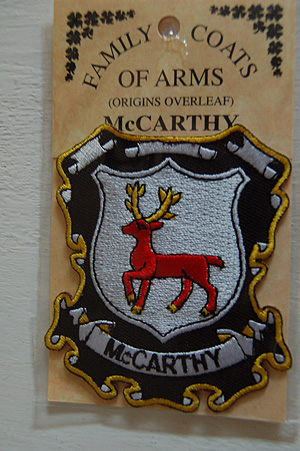 McCarthy Embroidered Patch - Coat of Arms (Souvenir gift)