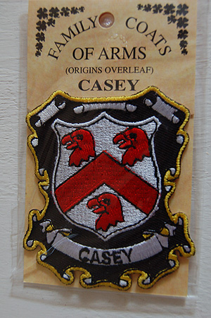 Casey Embroidered Patch - Coat of Arms (Your surname)