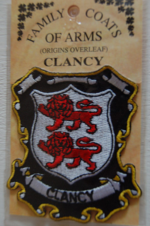 Clancy Embroidered Patch - Coat of Arms (Great budget gift)