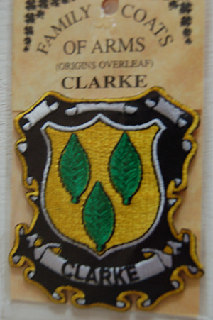 Clarke Embroidered Patch - Coat of Arms (Family memento)