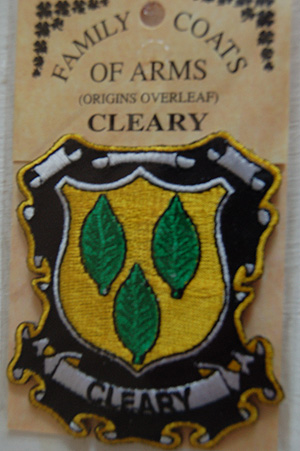 Cleary Embroidered Patch - Coat of Arms (Pride in your name)