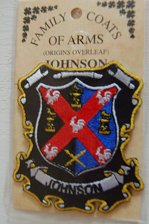 Embroidered Heraldic Patches Johnson Embroidered Patch