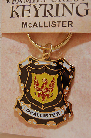 McAllister Keyring Keychain - Coat of Arms (Family Crest)