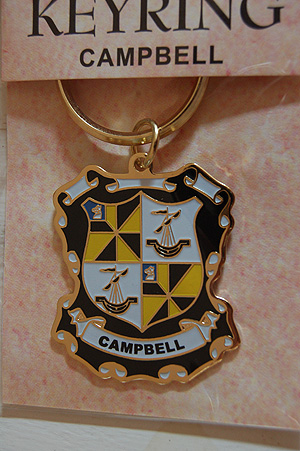 Campbell Keyring Keychain - Coat of Arms (Celebrate your Heritage)
