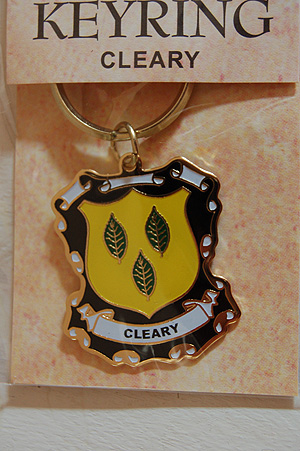 Cleary Keyring Keychain - Coat of Arms (Family memento)