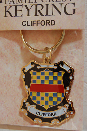 Clifford Keyring Keychain - Coat of Arms (Pride in your name)