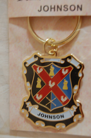 Keyrings - Family Coat of Arms - Johnson Keyring Keychain - Coat of Arms