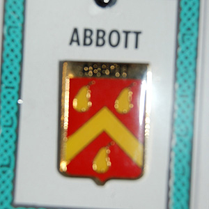Abbott Pin Lapel Clip Badge - Coat of Arms