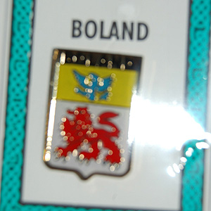 Boland Pin Lapel Clip Badge - Coat of Arms
