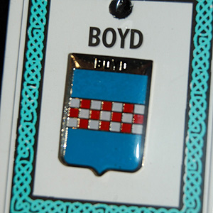 Boyd Pin Lapel Clip Badge - Coat of Arms