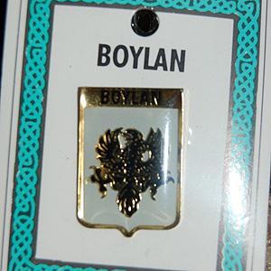 Boylan Pin Lapel Clip Badge - Coat of Arms (Nice memento)