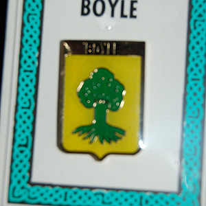 Boyle Pin Lapel Clip Badge - Coat of Arms