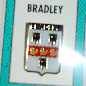 Bradley Pin Lapel Clip Badge - Coat of Arms