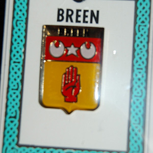 Breen Pin Lapel Clip Badge - Coat of Arms