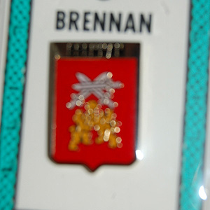 Brennan Pin Lapel Clip Badge - Coat of Arms