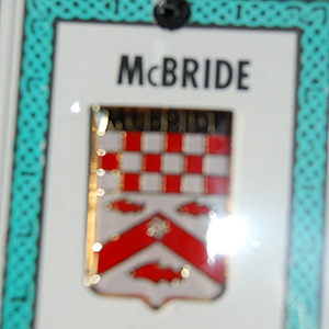 McBride Pin Lapel Clip Badge - Coat of Arms (Family Pride)