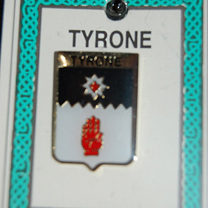 Tyrone County Irish Pin Lapel Clip Badge (Show your support)