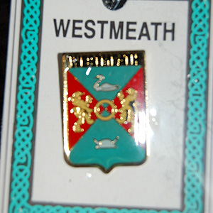 Westmeath County Irish Pin Lapel Clip Badge (GAA gift)