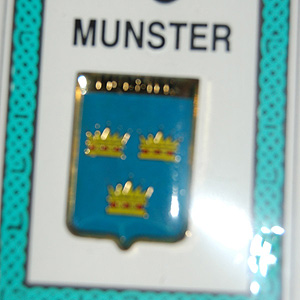 Munster Irish Province Pin Lapel Clip Badge (Gift for rugby supporter)