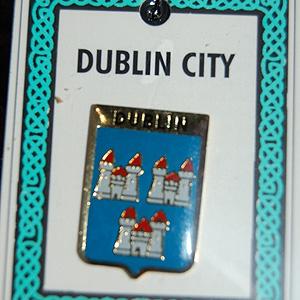 Dublin City Irish Pin Lapel Clip Badge (Up the Jackeens !!)