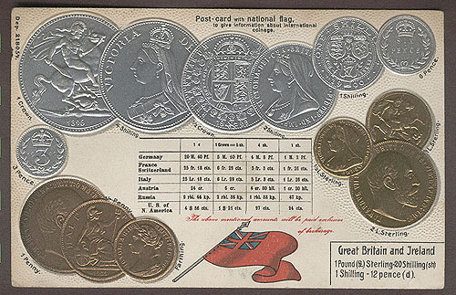 Ireland & GB Embossed Coins