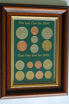 Framed Irish Decimal & Euro Coin Sets