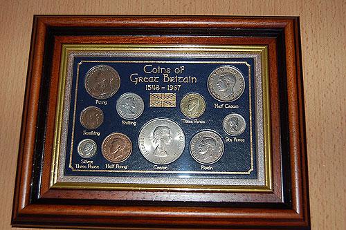 Irish Coins/Notes - Framed Irish Coin Sets